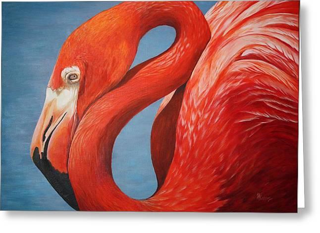 Pam Kaur Greeting Cards - Flamingo Greeting Card by Pam Kaur