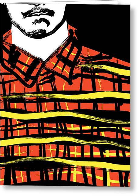 White Flannels Greeting Cards - Flannel Greeting Card by Jade Pilgrom
