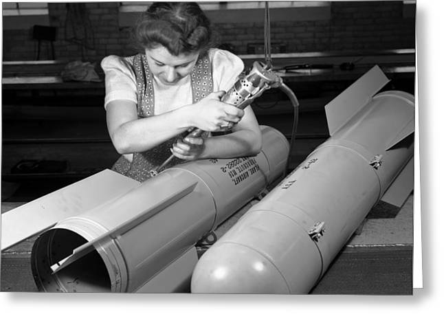 """""""war Women"""" Greeting Cards - Flare Manufacture, 1942 Greeting Card by Granger"""