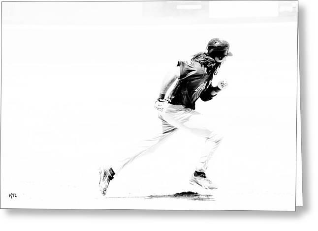 Baseball Bat Greeting Cards - Flash Greeting Card by Karol  Livote