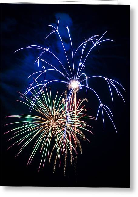 Rockets Red Glare Greeting Cards - Flash of Brilliance Greeting Card by Bill Pevlor