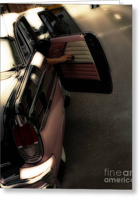 Vintage Cars Greeting Cards - Flashback in Pink Greeting Card by Steven  Digman