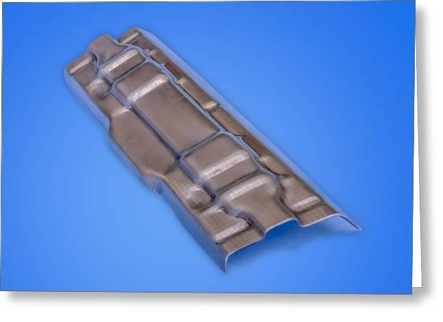 Metallic Sheets Greeting Cards - FlashBainite - Maximum Strength Steel - Seat Combo V3 Greeting Card by LeeAnn McLaneGoetz McLaneGoetzStudioLLCcom