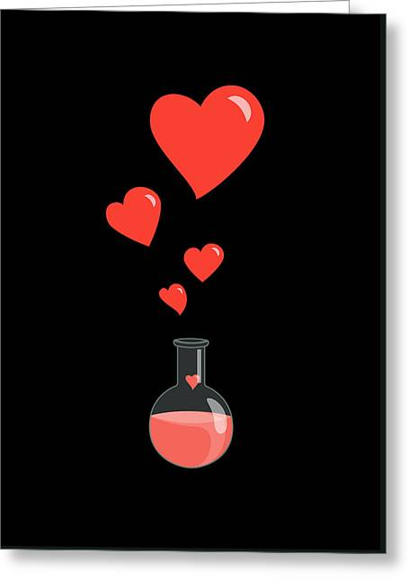 Flask Of Hearts Greeting Card by Boriana Giormova