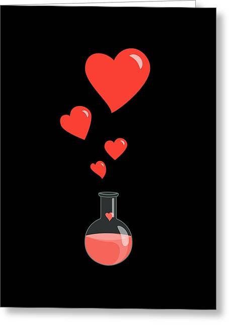 Boriana Giormova Greeting Cards - Flask of Hearts Greeting Card by Boriana Giormova