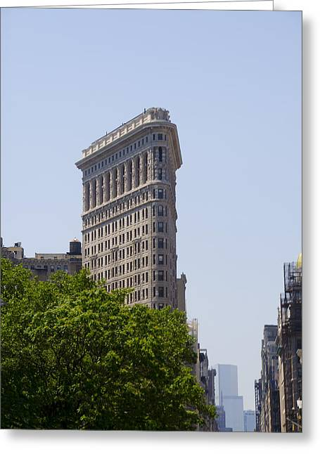 Flat Iron Building Greeting Cards - Flat Iron Building Greeting Card by Bill Cannon