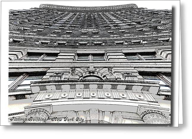 Flat Iron Building Greeting Cards - Flat Iron Building  II Greeting Card by Frank Garciarubio