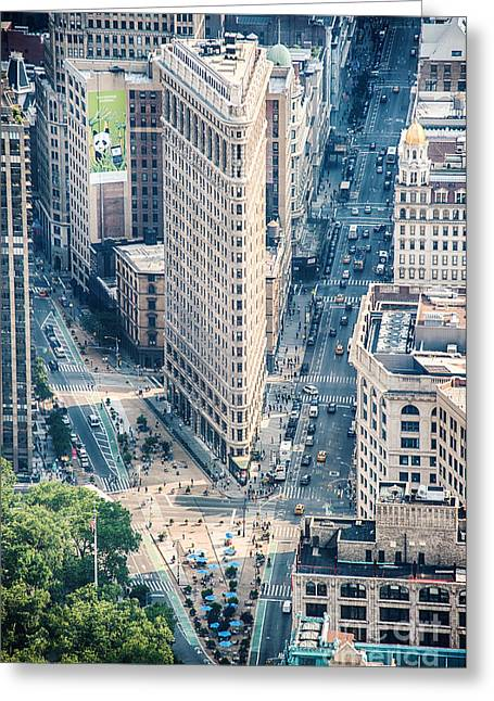 Flat Iron Building Greeting Cards - Flat Iron Building Greeting Card by Ray Warren