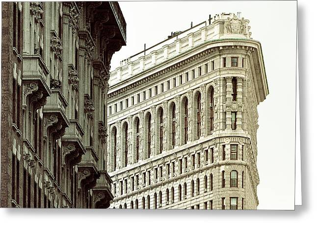 Flat Iron Building Greeting Cards - Flat Iron Greeting Card by Eric Ferrar