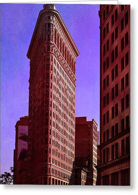 Citiscape Greeting Cards - Flat Iron  Greeting Card by Laura  Fasulo
