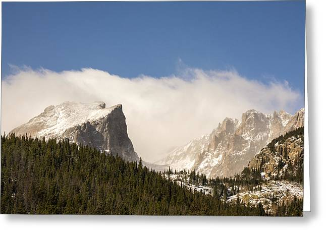 Chasm Lake Greeting Cards - Flat Top Mountain - Rocky Mountain National Park Estes Park Colorado Greeting Card by Brian Harig