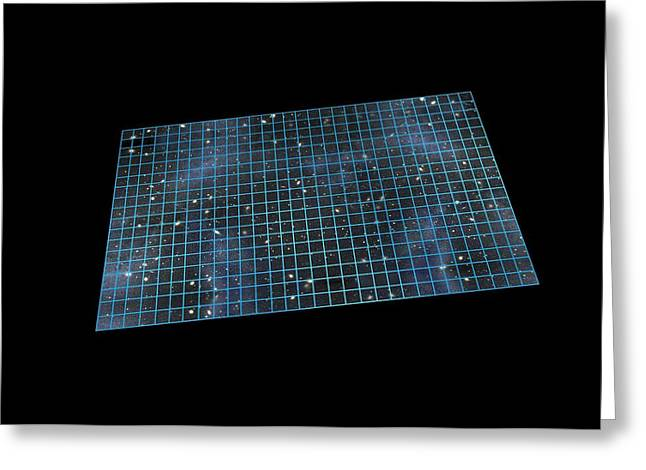Flat Four Greeting Cards - Flat universe, artwork Greeting Card by Science Photo Library