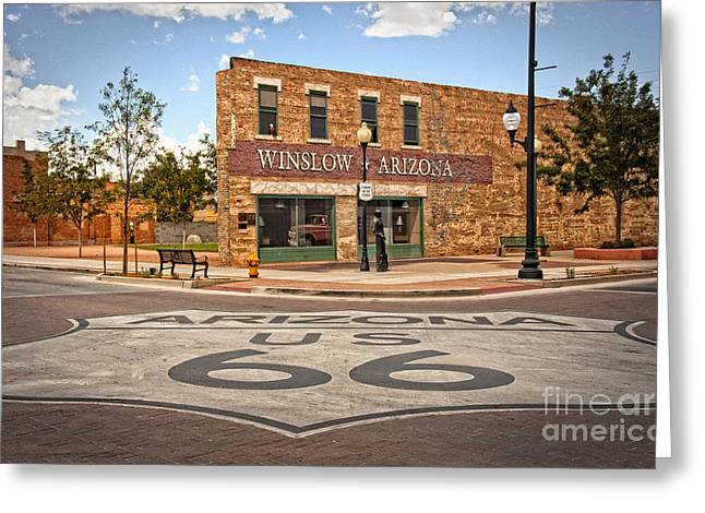 Fineartphotography Greeting Cards - Flatbed Ford and Winslow Route 66 Greeting Card by Lee Craig
