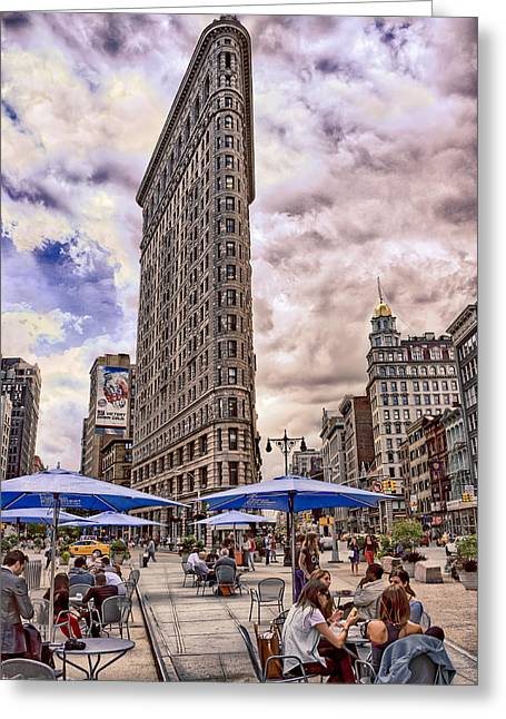 23rd Greeting Cards - Flatiron Building Greeting Card by Steve Zimic