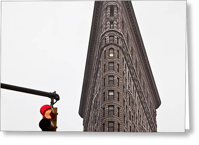 Flatiron Greeting Card by Dave Bowman