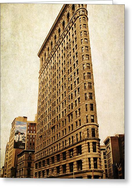 Flat Iron Building Greeting Cards - Flatiron DIstrict Greeting Card by Jessica Jenney