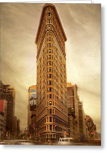 Flatiron Building Greeting Cards - Flatiron  Greeting Card by Jessica Jenney