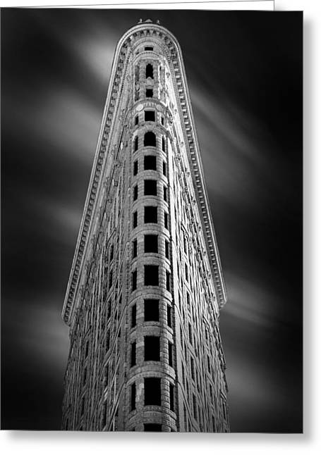 Ornate Pattern Greeting Cards - Flatiron Nights Greeting Card by Az Jackson