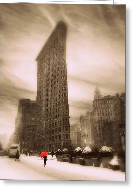 Flatiron On Fifth Greeting Card by Jessica Jenney