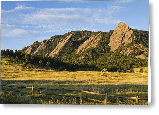 Flatirons from Chautauqua Park Greeting Card by James BO  Insogna