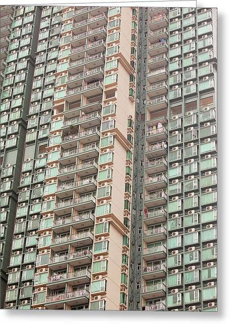 Flats In Kowloon Greeting Card by Ashley Cooper