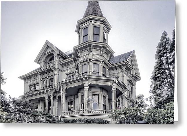 Historic Home Greeting Cards - Flavel Victorian Home Greeting Card by Daniel Hagerman