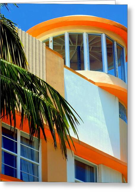 Flavour Of Miami Greeting Card by Karen Wiles