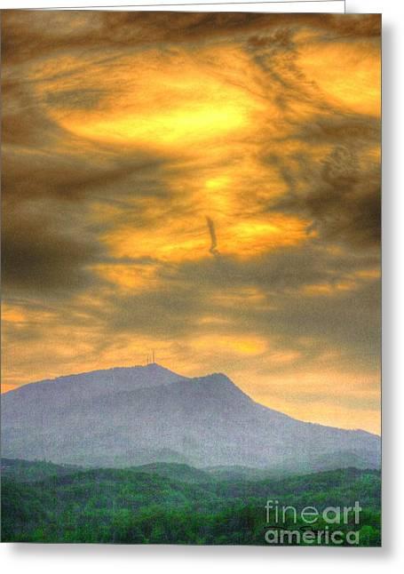 Turbulent Skies Digital Art Greeting Cards - Flaxen Air Greeting Card by Dan Stone