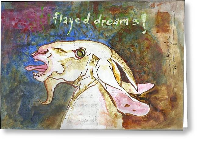 Installation Art Paintings Greeting Cards - Flayed Dreams Greeting Card by Sumit Banerjee