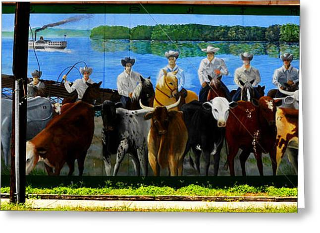 Historic Florida Greeting Cards - Florida Crackers mural pano Greeting Card by David Lee Thompson