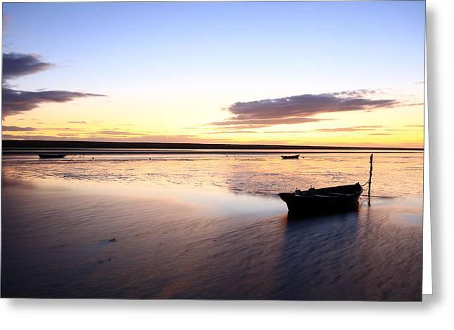 Fleet Lagoon Dorset Greeting Card by Ollie Taylor