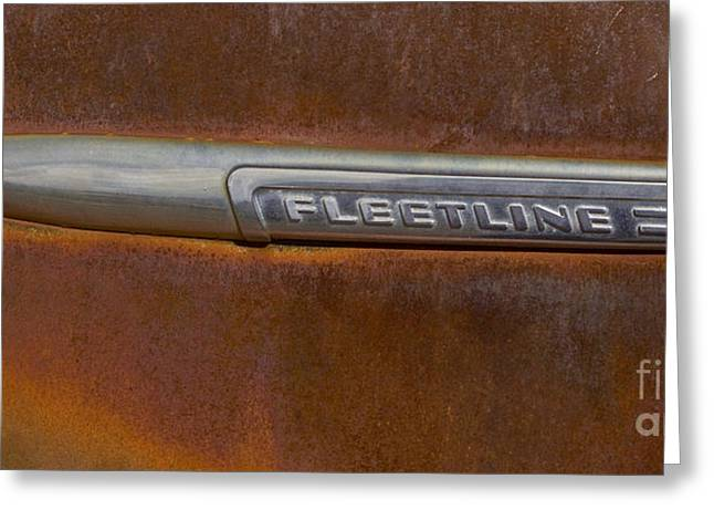 Fleetline Emblem Greeting Cards - Fleetline   #0973 Greeting Card by J L Woody Wooden