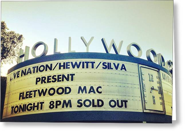 Hollywood Bowl Greeting Cards - Fleetwood Bowl Greeting Card by Chezare Sievers