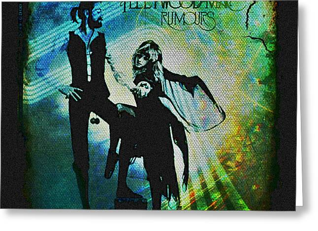 Rock N Roll Greeting Cards - Fleetwood Mac - Cover Art Design Greeting Card by Absinthe Art By Michelle LeAnn Scott