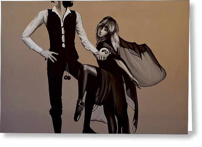 Portrait Artwork Greeting Cards - Fleetwood Mac Rumours Greeting Card by Paul Meijering