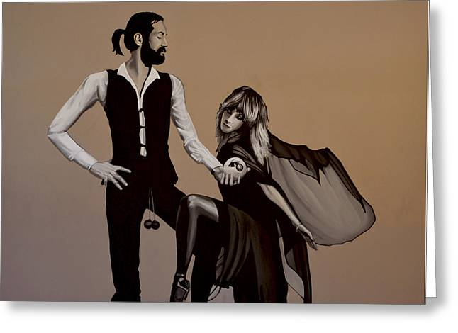 Single Greeting Cards - Fleetwood Mac Rumours Greeting Card by Paul Meijering