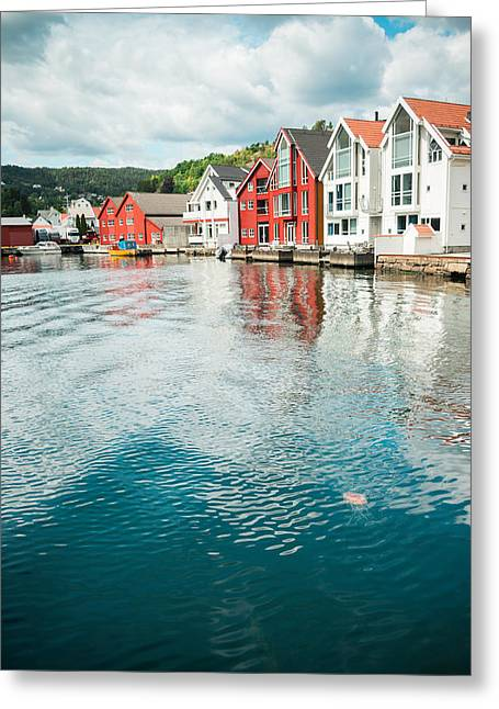 Kjg Greeting Cards - Flekkefjord Greeting Card by Mirra Photography