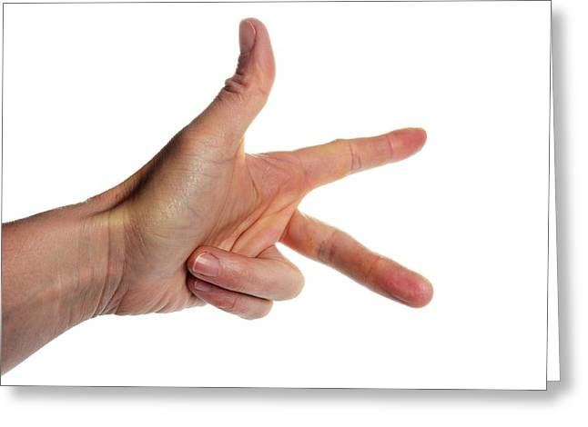 Fleming's Left-hand Rule For Motors Greeting Card by Cordelia Molloy