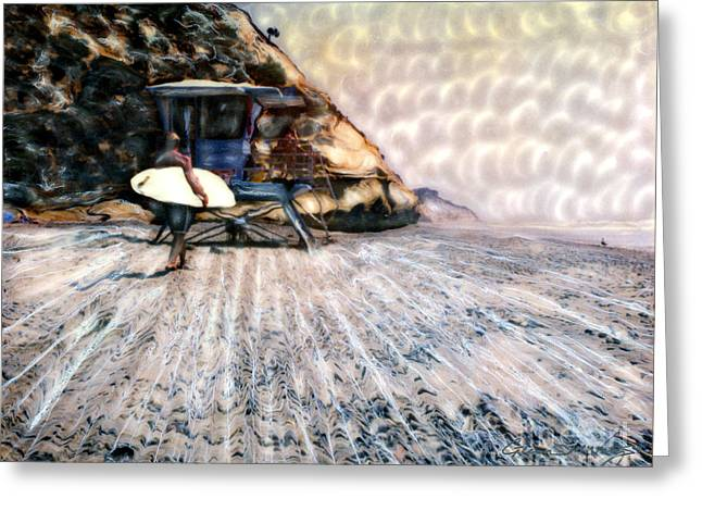 Surfing Photos Greeting Cards - Fletchers Cove Surfer Greeting Card by Glenn McNary