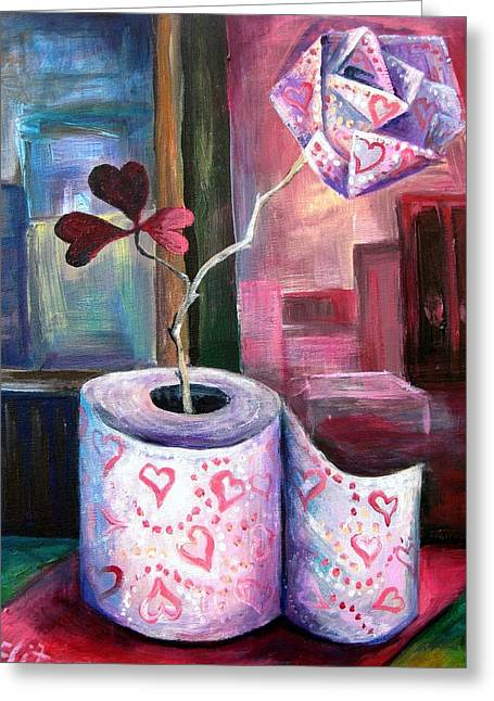 Elisheva Nesis Greeting Cards - FLEUR D ORANGE with LOVE and SQUALOR Greeting Card by Elisheva Nesis