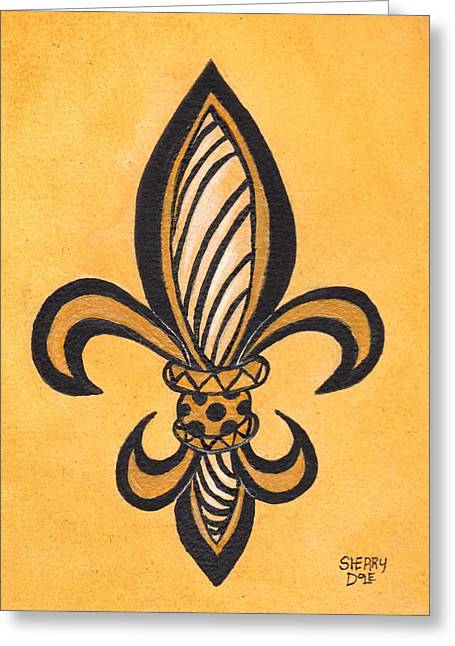 Rde Greeting Cards - Fleur de Lis 3 Greeting Card by Sherry Dole