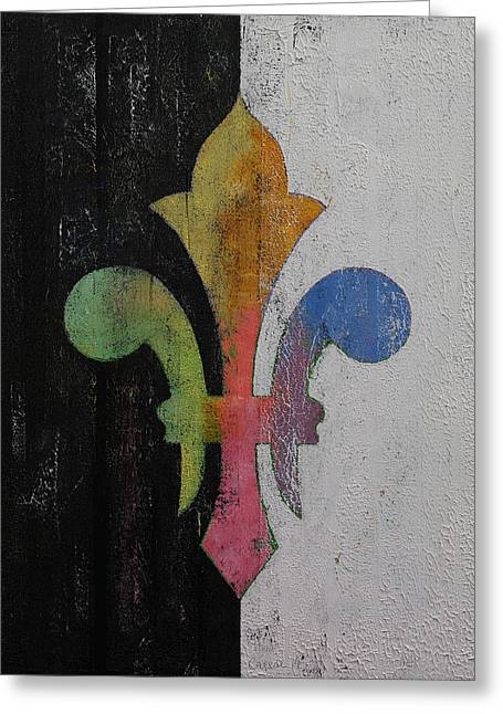 Royal Art Paintings Greeting Cards - Fleur de Lis Greeting Card by Michael Creese