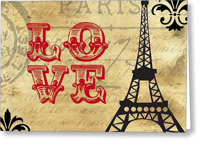 """france Poster"" Greeting Cards - Fleur de Love Greeting Card by Greg Sharpe"