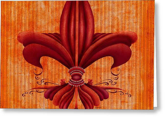 Bryant Greeting Cards - Fleur de lys Greeting Card by Brenda Bryant