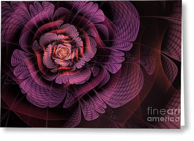 Purples Greeting Cards - Fleur pourpre Greeting Card by John Edwards