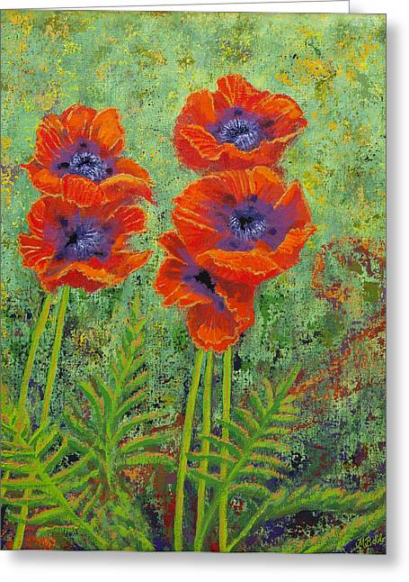 M Bobb Greeting Cards - Fleurs des Poppies Greeting Card by Margaret Bobb