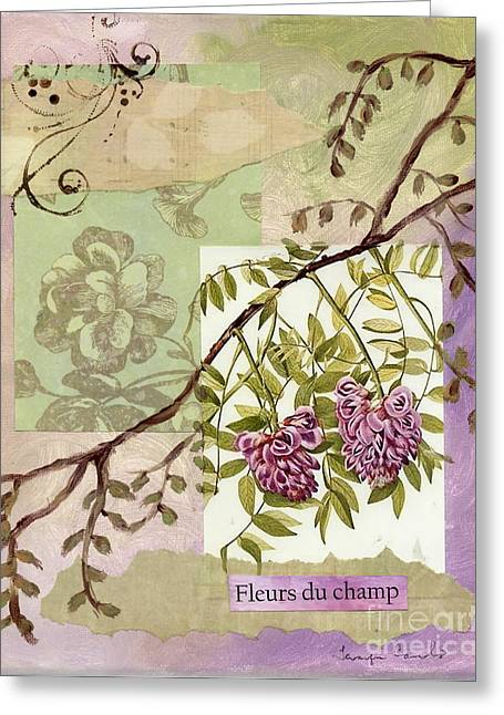 Nature Study Mixed Media Greeting Cards - Fleurs du champ Greeting Card by Tamyra Crossley