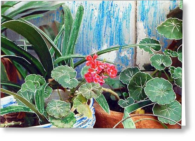 Pare Mixed Media Greeting Cards - Fleurs Greeting Card by Ismael Rivera