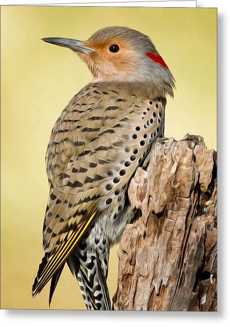 Flicker Greeting Card by Bill Wakeley