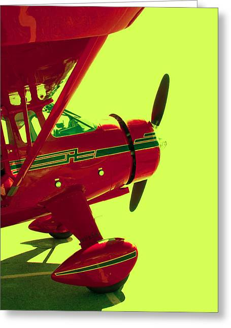 Crop Dusters Greeting Cards - Flight 1 Greeting Card by Daniel Hagerman